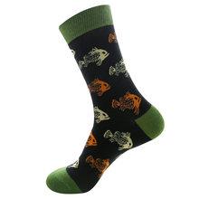 Носки унисекс, модные мужские и женские хлопковые носки большого размера с забавными животными и фруктами(Китай)