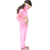 fashion hot sale pink children belly dance costume for performance and practice