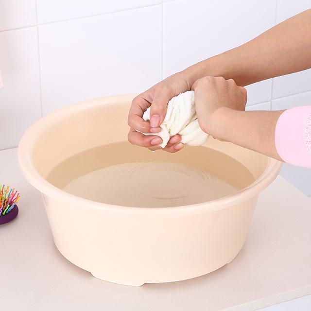 Бытовая многофункциональная красочная круглая раковина для умывальника, пластиковая раковина для уборки дома, 39*15,5 см, 60 шт. в коробке, принимаются OEM, 26 см