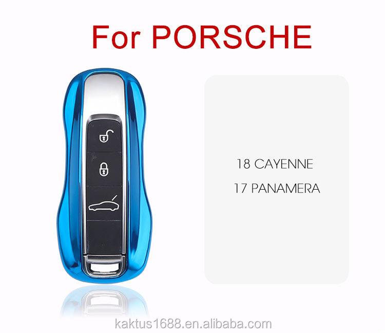 Чехол для автомобильного ключа для Porsche 18 Cayenne 17 Panamera защитный чехол из ТПУ чехол для автомобильного ключа