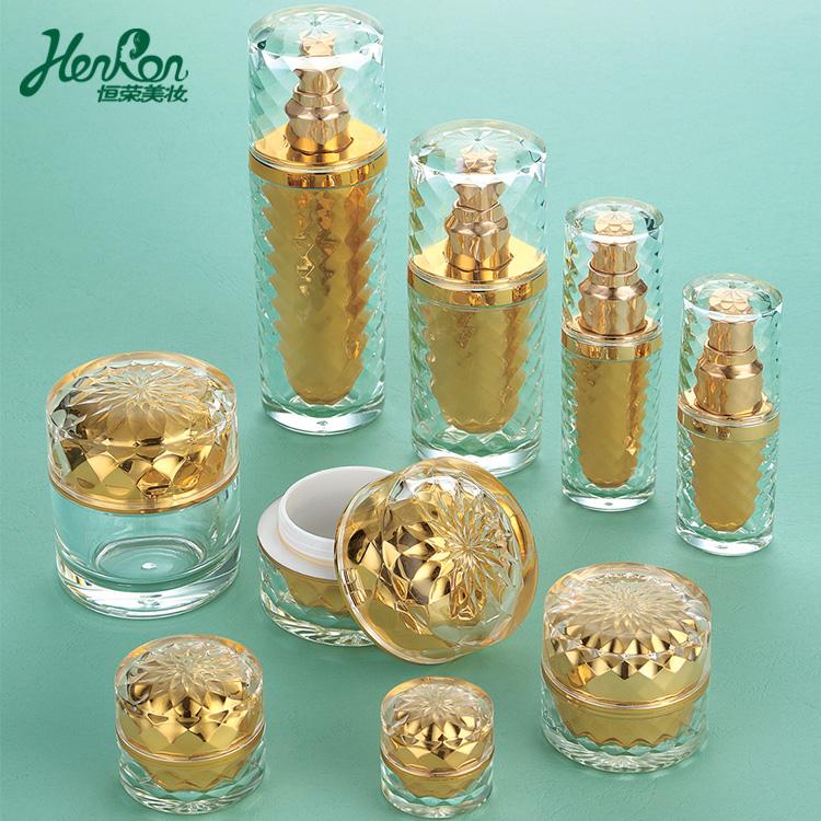 5 г 10 г 30 г 50 г 80 г 15 мл 30 мл 60 мл 80 мл роскошная французская золотая косметическая упаковка набор акриловая косметическая банка и бутылка для крема