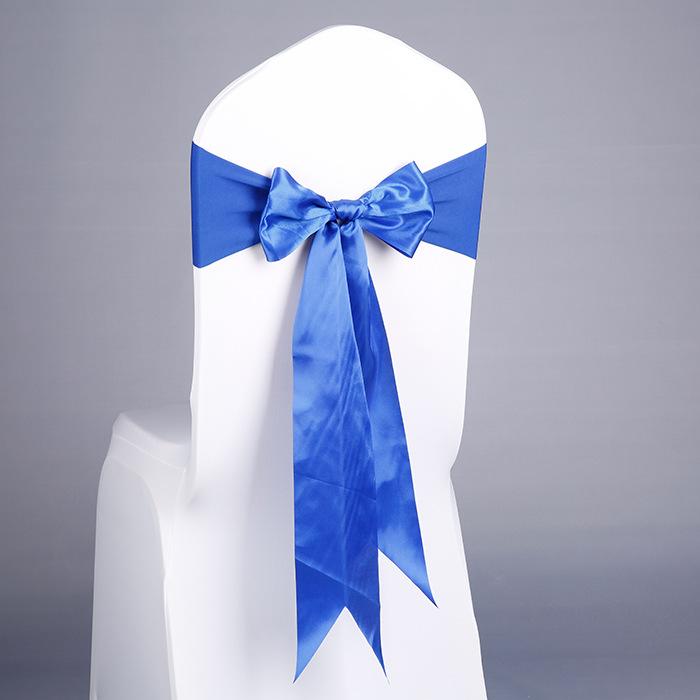 Праздничный Банкетный Декор YRYIE, стул с бантом и поясом, темно-синий