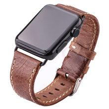 Ремешок для часов из воловьей кожи, для Apple Watch, мягкий, тонкий, 38 мм, 42 мм, черный, темно-коричневый, для мужчин и женщин, из натуральной кожи(Китай)