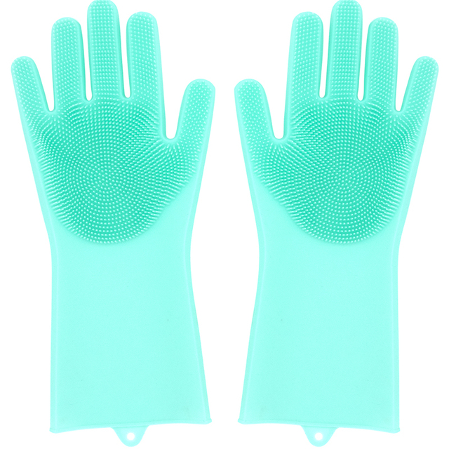 wholesale new pet products cleaning care gloves dish washing silicone hair brush for pet shop multi-purpose gloves