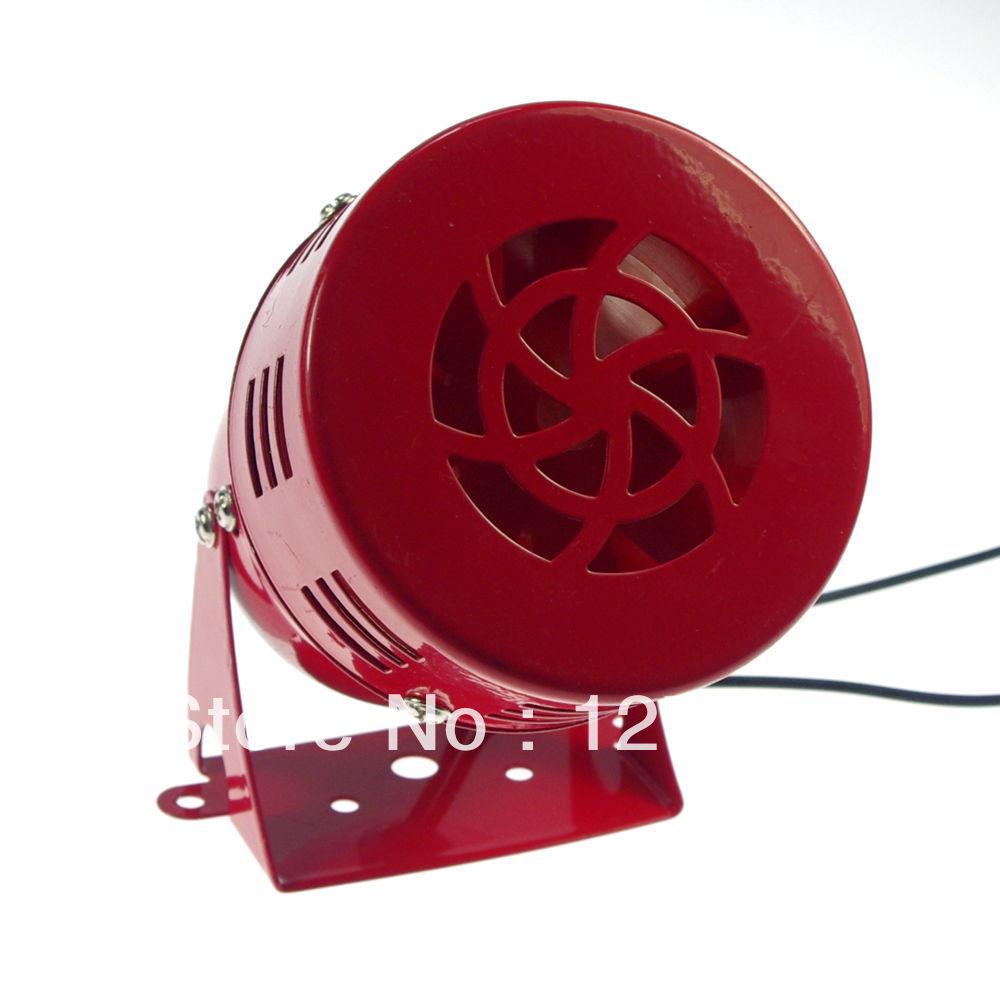 Dc24v дб красный цвет MS-190 промышленный звуковая сигнализация мини металл двигателя сирена