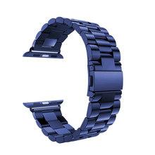 Роскошный ремешок для Apple watch band 42 мм/38 мм iWatch 4 band 44 мм/40 мм металлический ремешок из нержавеющей стали Браслет Apple watch 4 3 2 1(Китай)