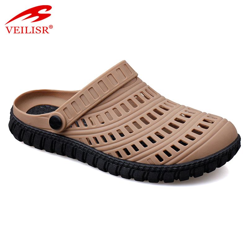 Уличные летние пляжные сандалии из мягкого материала в виде пуш, мужские садовые Сабо