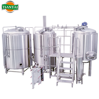 500L 5hl Steam heated 2 vessel beer brewing kit for sale