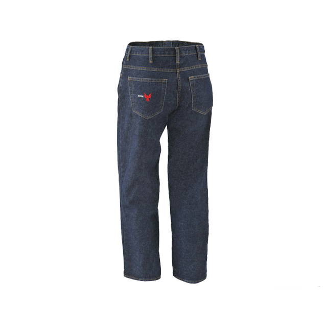 Heavy weight TPHC flame retardant treated cotton FR relaxed fit jeans
