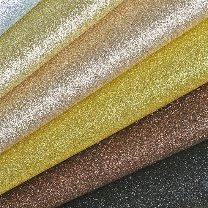 Top selling glitter vinyl fabric for sandals