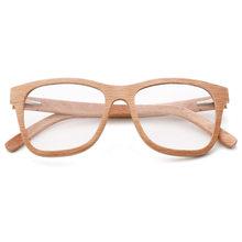 Оправа для очков из 100% натурального дерева для мужчин и женщин, оптические очки с прозрачными линзами и футляром 56342(Китай)