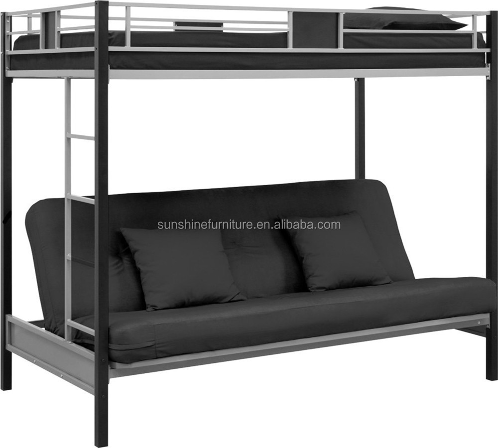 Cheap Silver Black Metal Folding Bunk Bed Futon Bed Futon Bunk Bed Buy Futon Bed Futon Bunk Bed Folding Bunk Bed Product On Alibaba Com