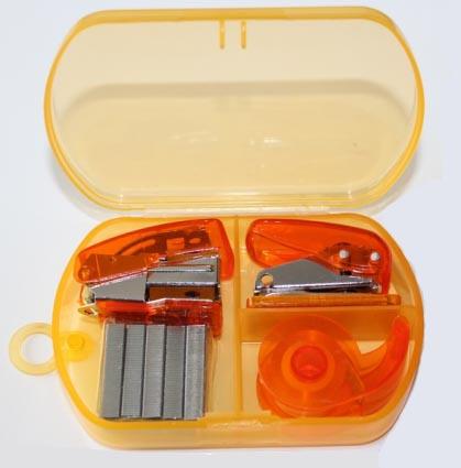 Пластиковые канцелярские принадлежности, офисный набор, степлер для степлера, мини-дозатор дыроколов для ленты