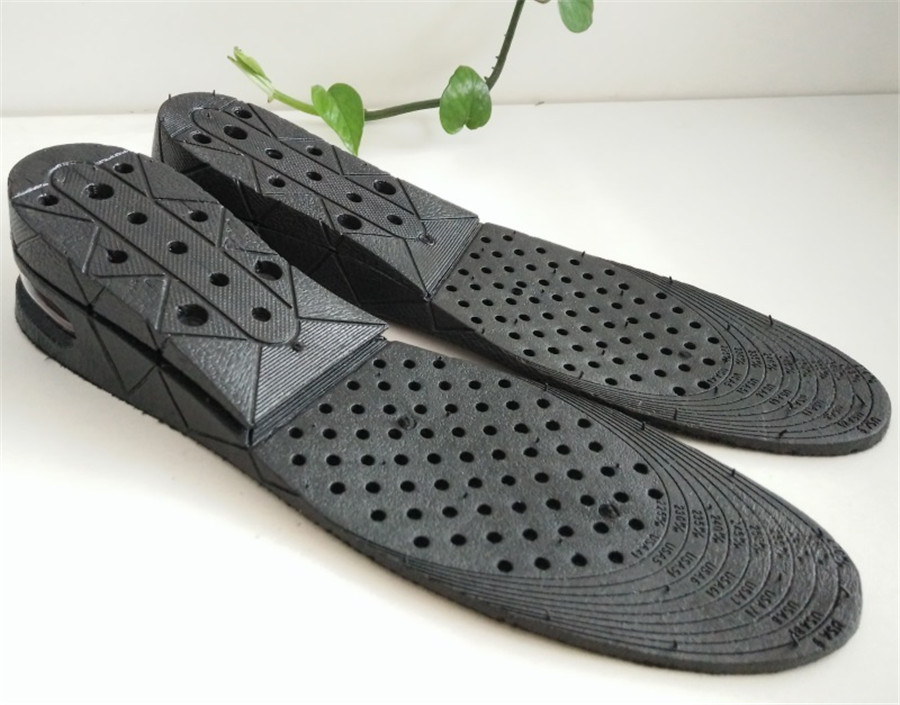 3-9cm Unisex Black Shoe Increase Height Insole Air Cushion Invisible Pads Soles For Shoes Men/Women