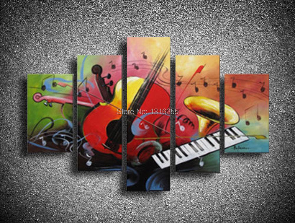 guitare gibson peinture l 39 huile color guitare peinture art mural instruments de musique image. Black Bedroom Furniture Sets. Home Design Ideas