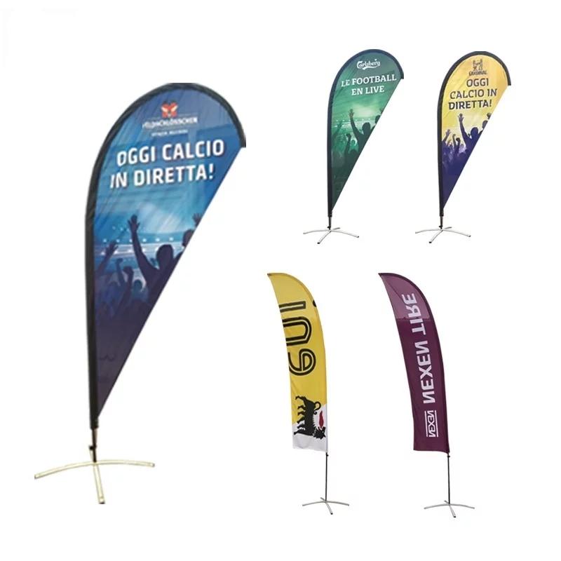 Рекламные наружные летающие пользовательские печатные рекламные каплевидные флаги