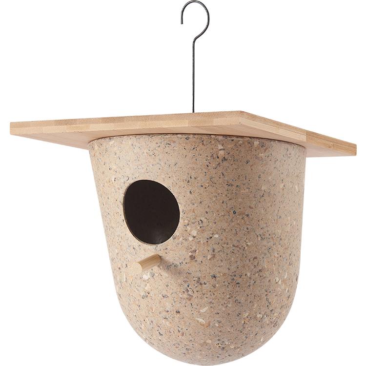Innovative Decoration Biodegradable Bamboo Outdoor Modern Hanging Feeders Bird House