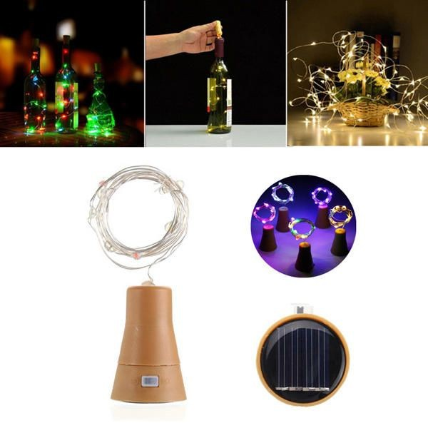 DIY Wine Stopper Light Cork Shape LED Copper Wire String Lights For Wedding Christmas Party