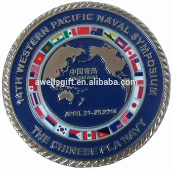 Custom 3D Zinc Alloy Brass Metal Enamel Antique Gold Challenge Coin No Minimum