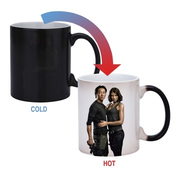 wholesale cheap 11oz semi-sanding magical mug color changing mug for sublimation