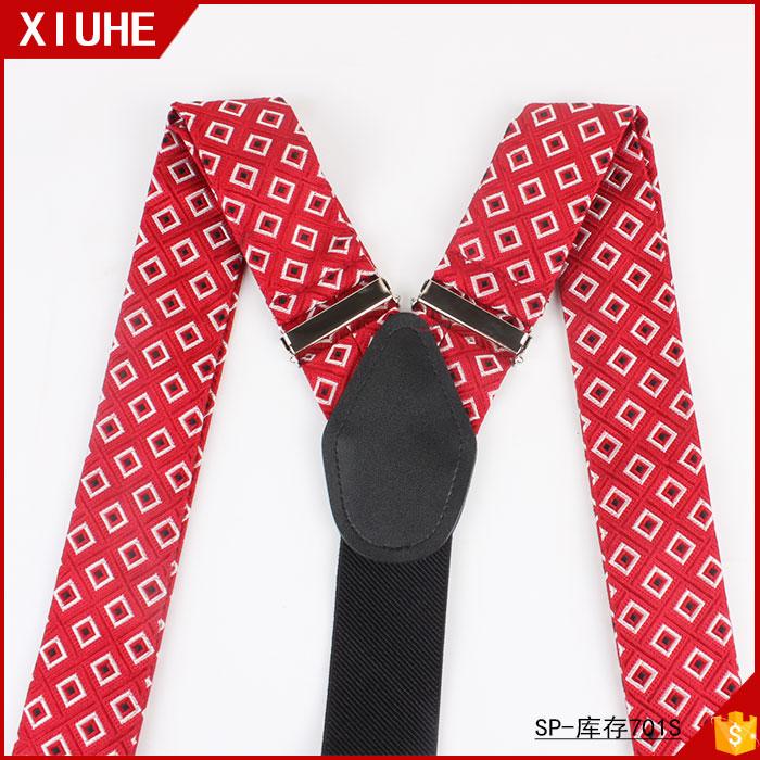 2020 новейший дизайн, новое модное классическое стильное платье с коротким рукавом Красного, y-образной формы на подтяжках регулируемые подтяжки для мужчин