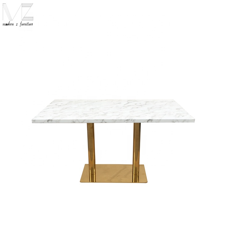 New Design Stainless Steel Faux Square Marble Top Dining Table For 4 People Buy Marble Dining Table Square Marble Top Dining Table New Design Stainless Steel Faux Square Marble Top Dining Table For