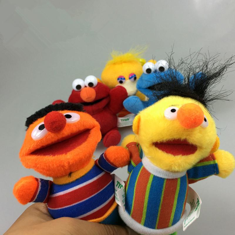 Atacado-Sesame Street Elmo Grande Cookie Cookie Monstro Erine Bert 13 cm  Plush Toys Cartoon Stuffed Animals Bonecas Pingente Caçoa o Presente