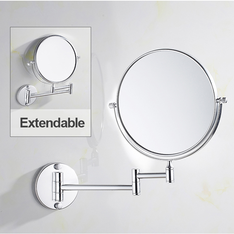 Extendable Wall Mounted 5x Magnifying Mirror Chrome Frame Folding Round Hotel Mirror Round Bathroom Mirror Buy Mirror Make Up Extendable Mirror Magnifying Framed Bathroom Mirror Wall Mount Mirror Wall Mounted Magnifying