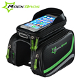 ROCKBROS MTB Bicycle Frame Front Bag Head Top Tube Double IPouch Touch Cycling Pannier For 5
