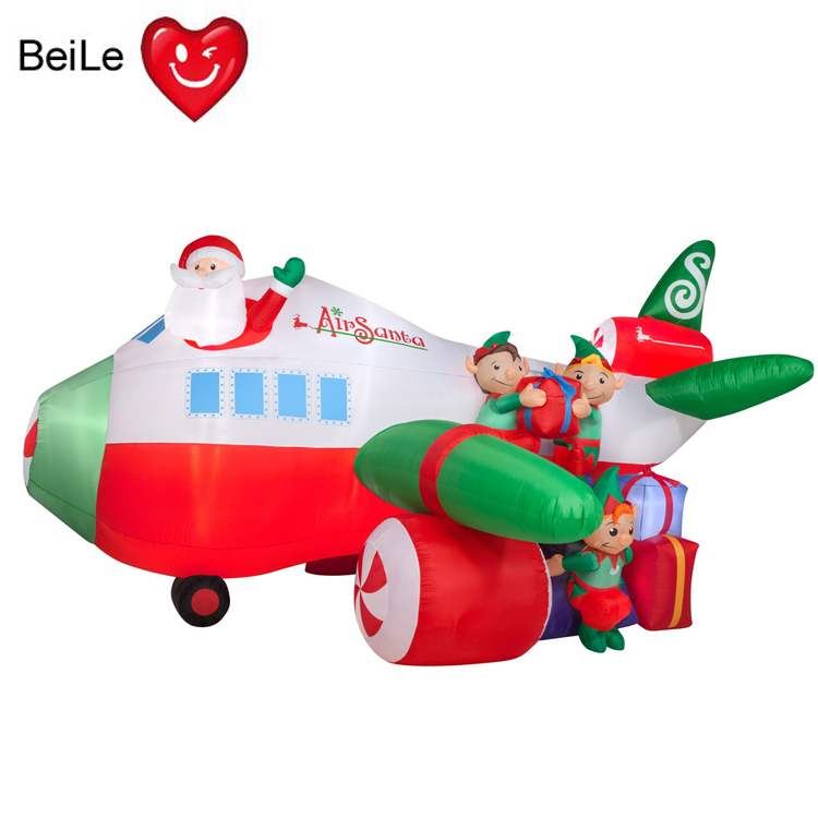 Inflatable airplane christmas decorations for pool