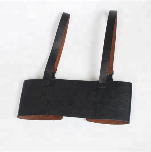 wholesale 2018 Personality Vintage Sweet Strap Girdle Women's Decorative Shirt Dress PU Leather strap wild waist girdle