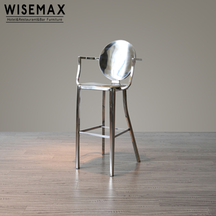 Modern Industrial Iron Metal Frame Bar Chair Bar Furniture Brushed Stainless Steel Kong Bar Stool With Armrest For Sale Buy Stainless Steel Bar Stool Metal Bar Stool Barstool Chairs Product On Alibaba Com