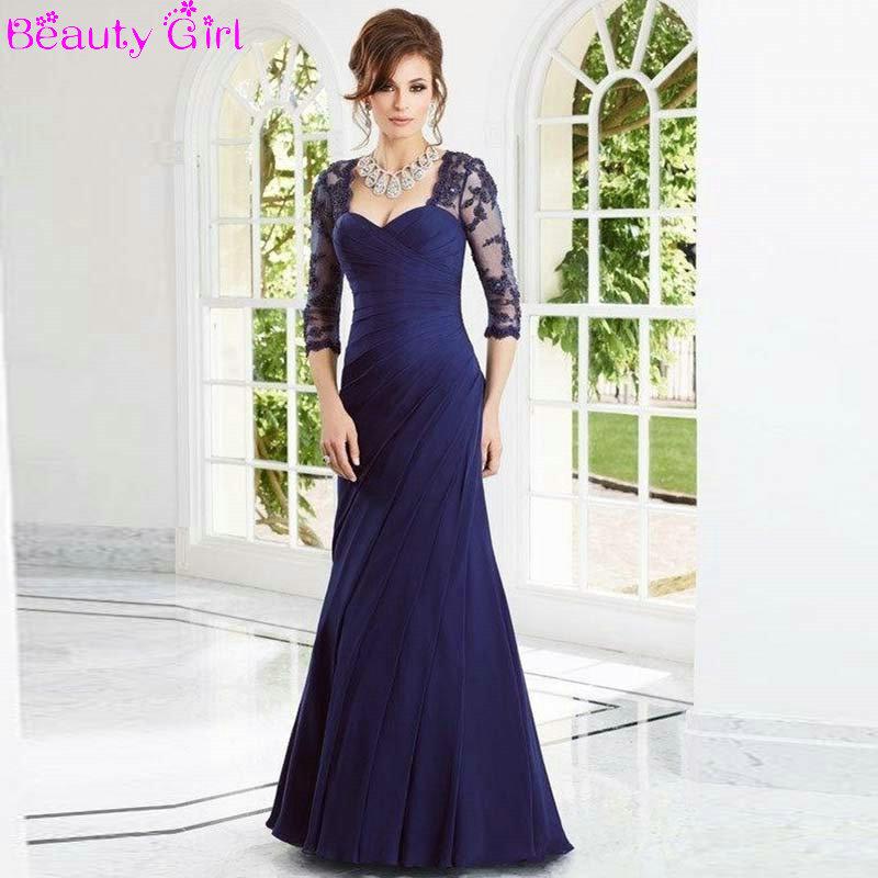2015 New Elegant Full Long Sleeves Mermaid Wedding Dresses: Elegant-Long-Sleeve-Formal-Evening-Dresses-Full-Beaded