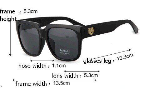 1f2f000d926 New 2015 Brand Personality Big Frame Sunglasses Men Outdoor Tiger ...
