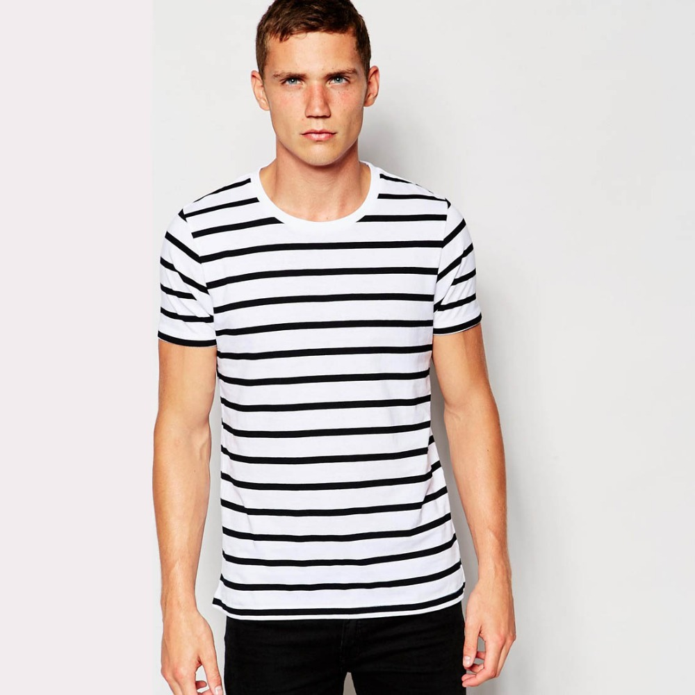 bc14a268d50 black and white striped t shirt mens