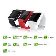 2016 Bluetooth Sport Smart Watch MTK WristWatch Health U8 for Samsung S3 S4 S6 edge Note 3 4 5 for HTC LG G2 G3 G4 Android Phone