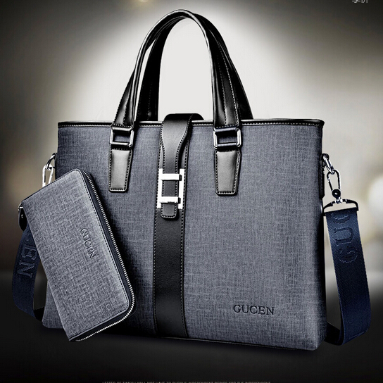 High quality leather office bags for men dress business ...