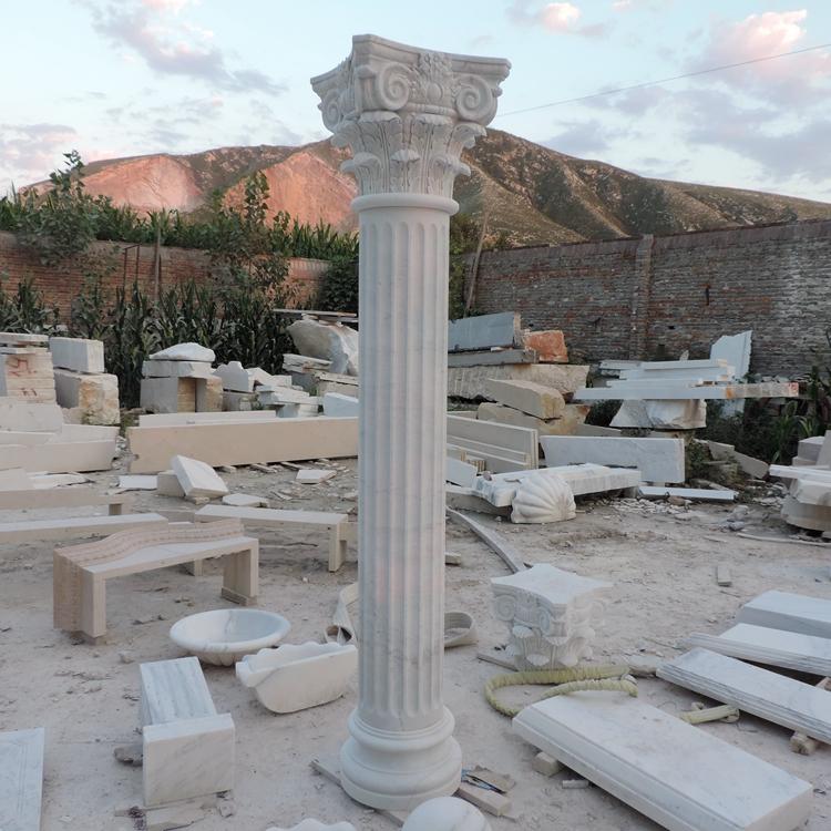 High quality garden decor sand stone column