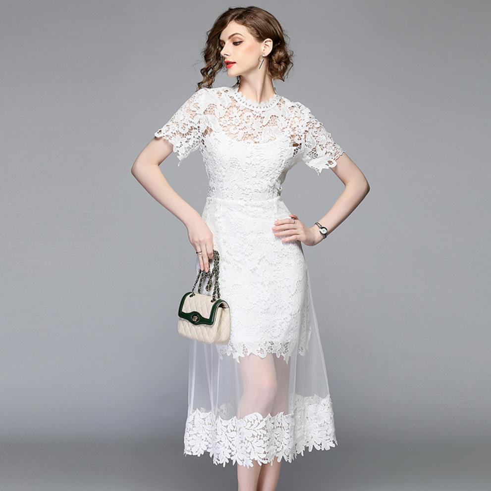 A-Line Dresses for Women,White Lace a Line Dress,Long with Short Sleeves White Lace Dress,a line dresses for women,a line dresses for women,