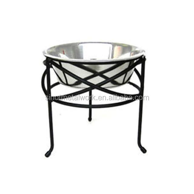 elevated single dog feeder)
