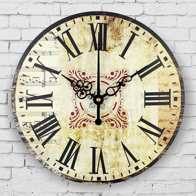 Large Bedroom Decor Wall Clocks Absolutely Silent Vintage