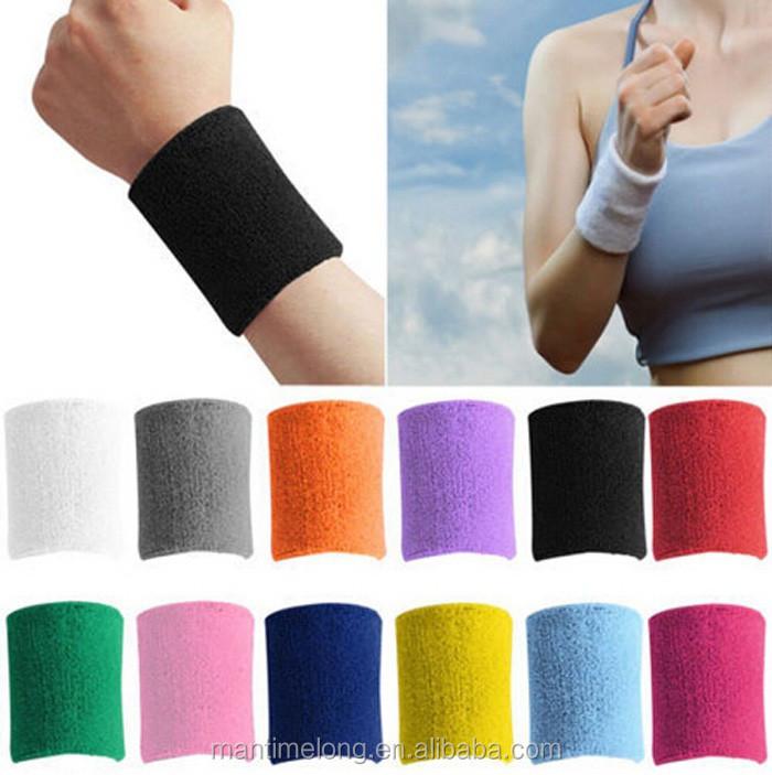 Anboo 1 PCS Unisex Cotton Sweat Band Sweatband Wristband Arm Band Basketball Tennis Gym Yoga