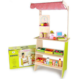 ML-8339 new arrived hot sale wooden booth toy play fun wooden toys