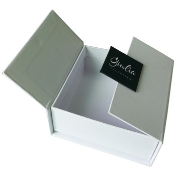 Custom luxury square cardboard gift box with lids and high gloss white packaging cardboard gift box