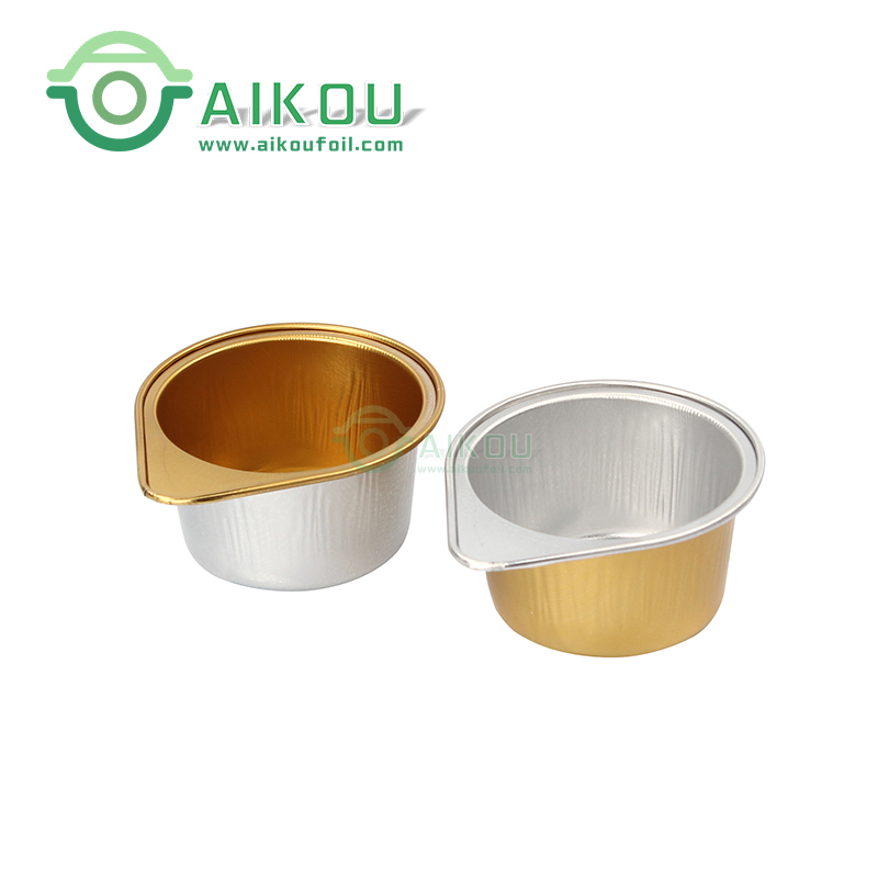 Aikou 50ml round disposable sealable tin cans aluminum tin containers