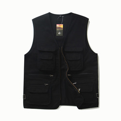 Men's Multi Pockets Cotton Cargoes Fisherman Vest Waistcoat For climbing fishing Hiking Journalist Photography Camping Vest