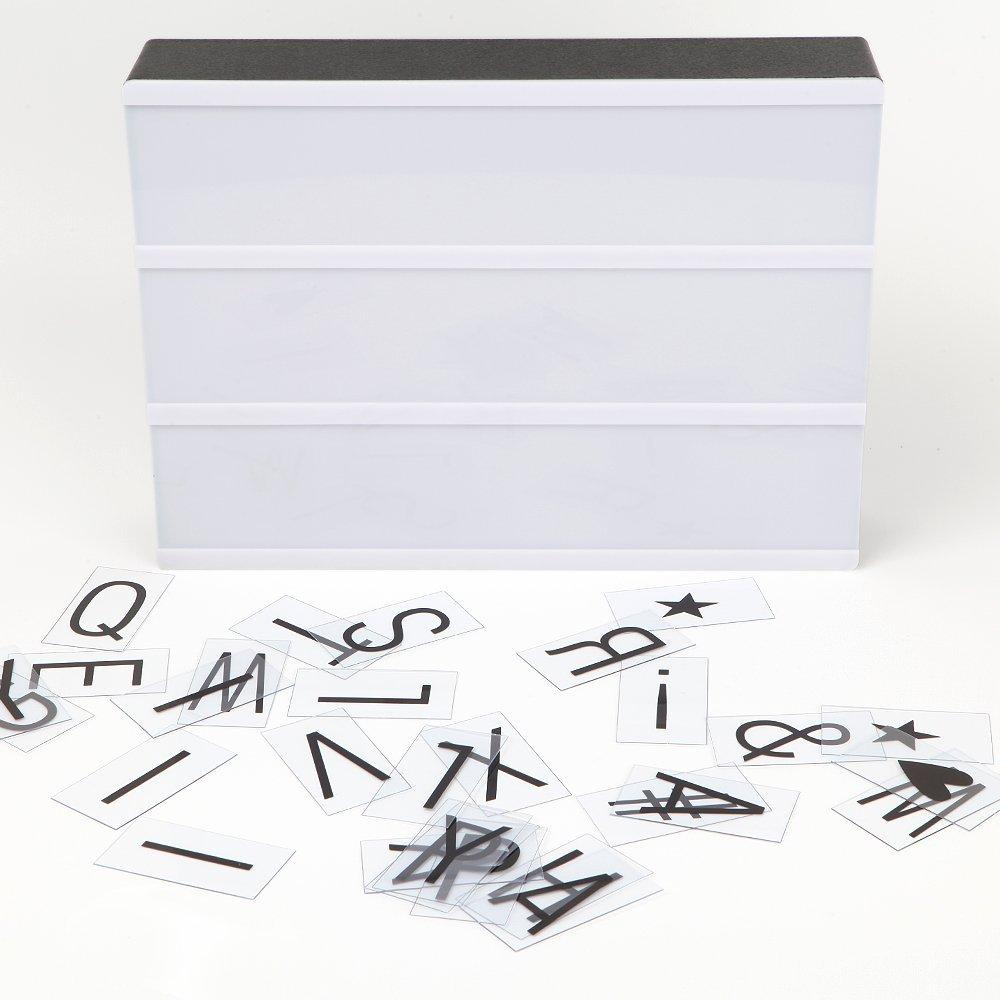 Кинематографический лайтбокс формата А4 с 96 буквами и 20 пустыми картами для дизайна