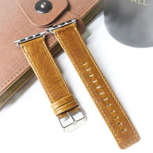 Ремешок из натуральной воловьей кожи для iphone Apple 1/2/3/4 iwatch, мужские и женские часы, винтажный смарт-браслет crazy horse 42 мм 38 мм(China)