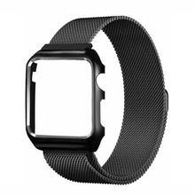 UTHAI A09 ремешок для часов Apple Watch/iwatch1/2/3 серии 38 40 42 44 мм Миланская нержавеющая сталь магнитные часы с + каймой(Китай)