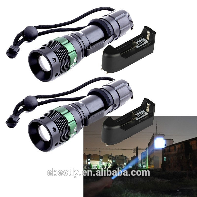 2000 LM CREE XM-L T6 Zoom Light LED Lamp Flashlight Ultra Fire Torch zoomable